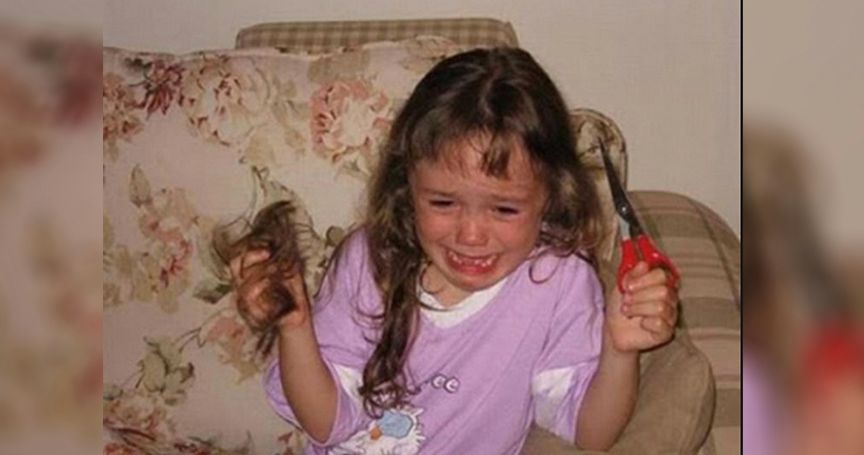 20 Times Kids Failed Miserably At Cutting Their Own Hair