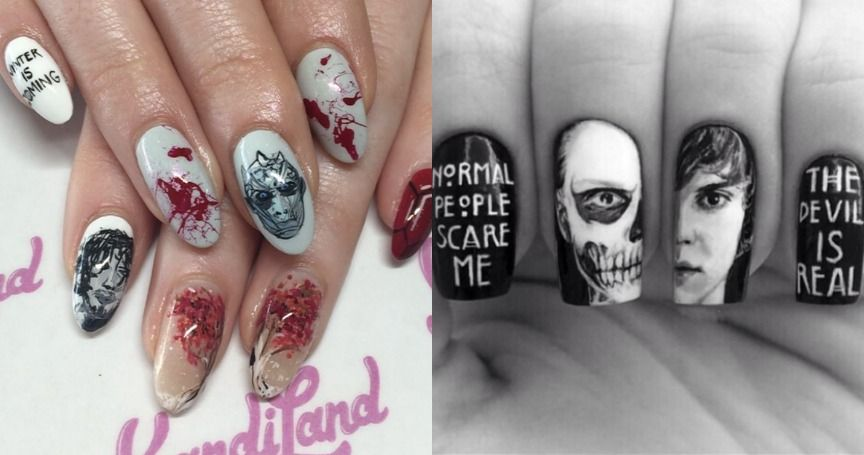 August Amazing Nail Designs Show: 22 Amazing Nail Art Designs Inspired By Your Favorite TV Shows