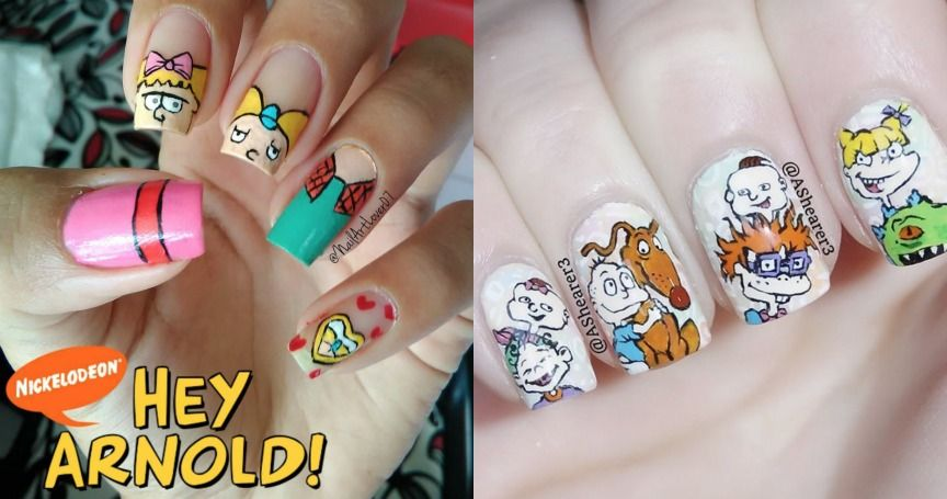 15 Awesome Nail Art Designs That Any '90s Kid Will Love