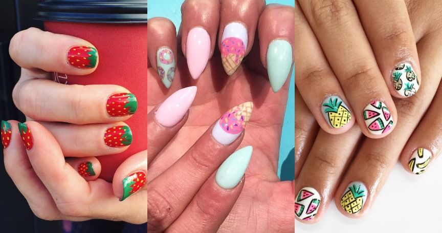 15 Cute Food-Inspired Nail Art Ideas Perfect For Any Foodie