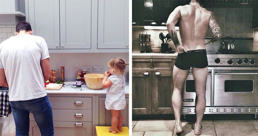 20 Photos Of Helpful Dads That Are Hot AF