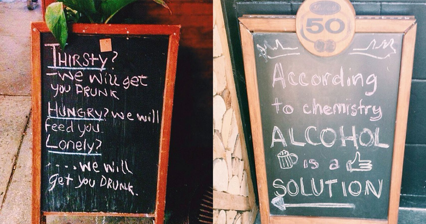14 Hilarious Bar & Cafe Chalkboard Signs That Will Put A Smile On Your Face