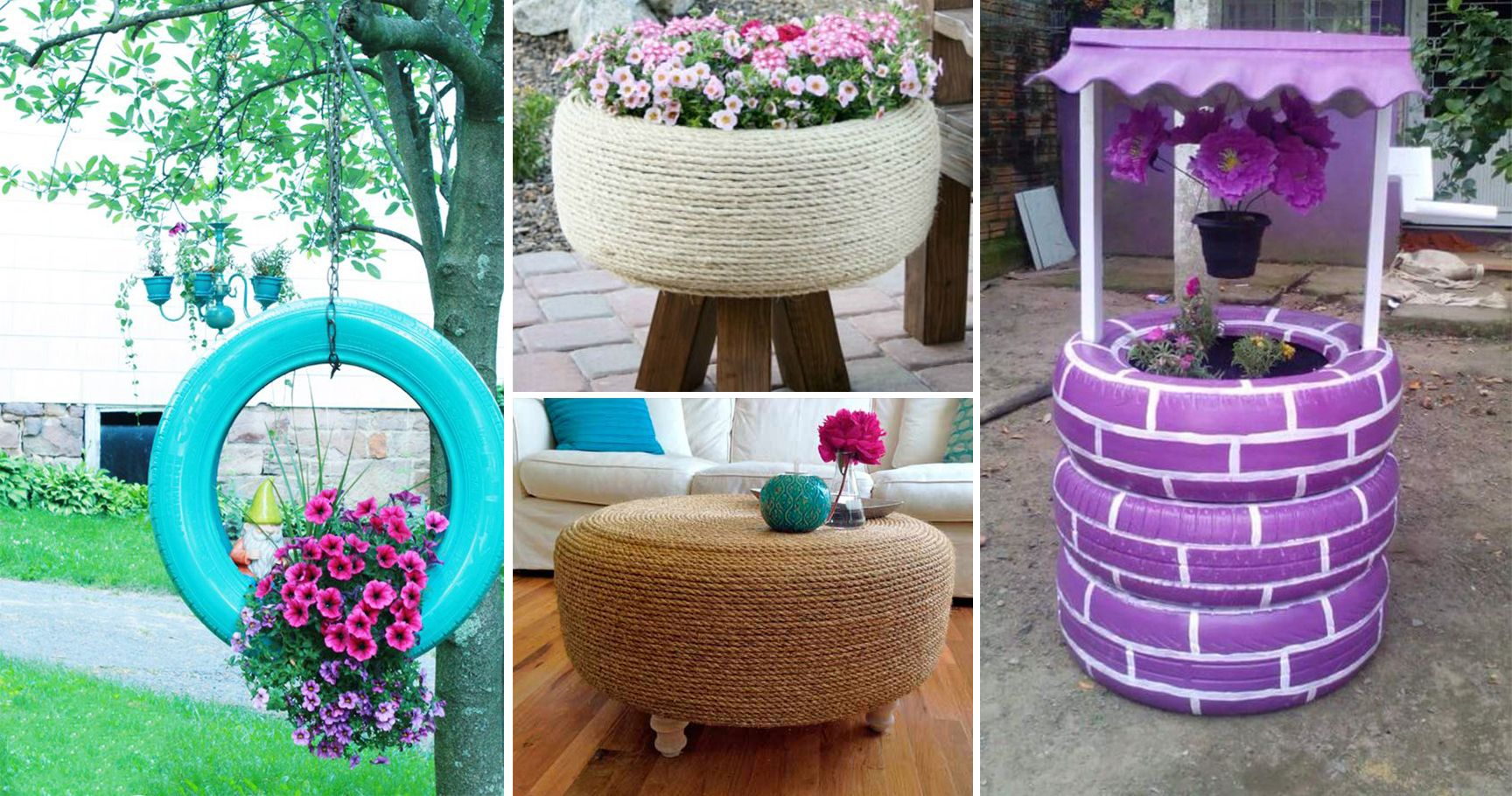 10 Kitschy Ways To Use Old Tires In Your Garden