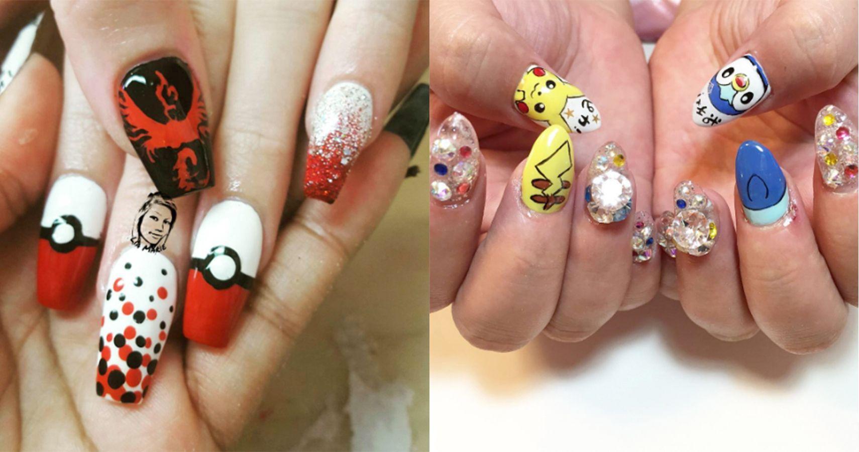 15 Pokémon Nails that Will Seriously Up Your Pokémon GO Game