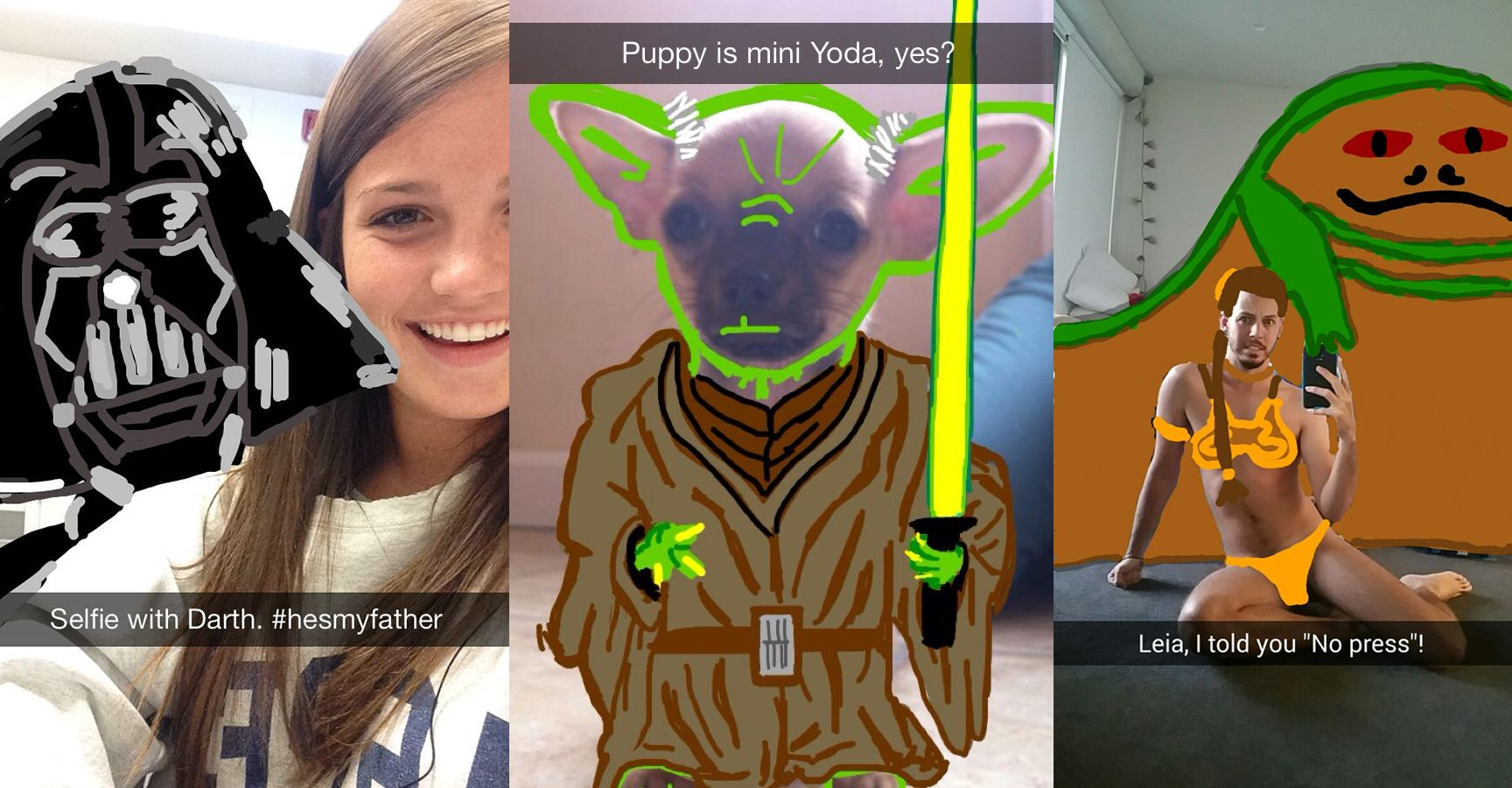 15 Hilarious Snapchat Stories That Will Make Any 'Star Wars' Fan ROFL
