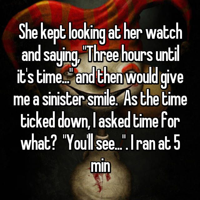http://whisper.sh/stories/0ddc4051-ffd8-48b8-85c7-63567cfdda6b/27-Creepy-Moments-People-Experienced-While-Out-On-Dates