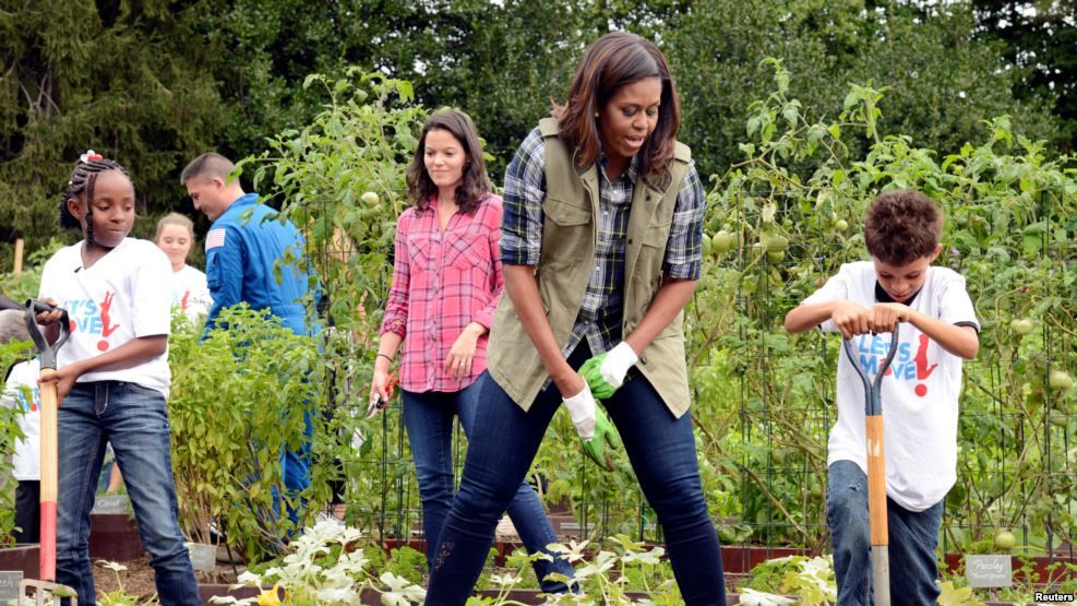 http://www.voanews.com/a/michelle-obamas-legacy-rooted-in-white-house-garden/3540558.html