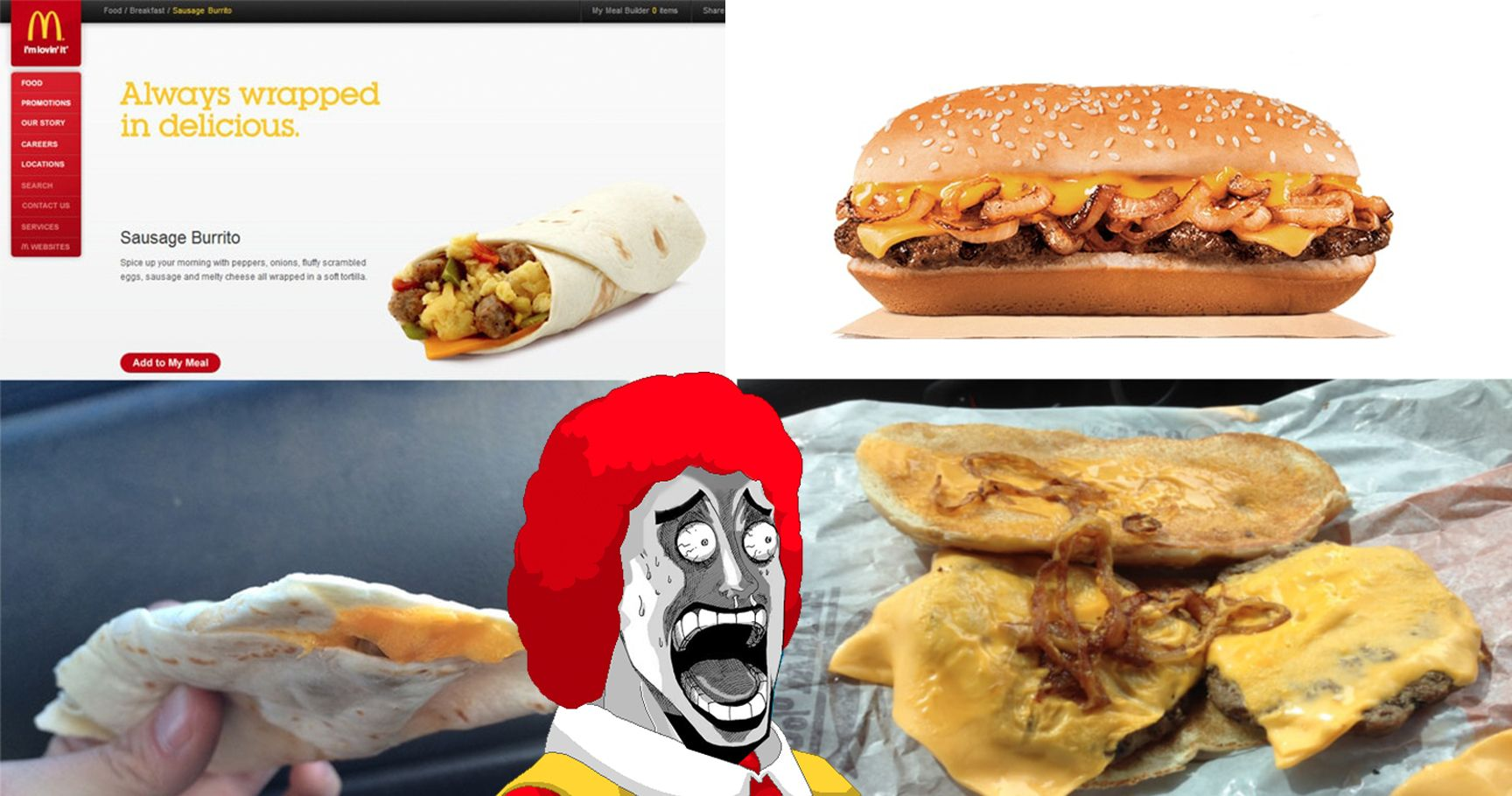 15 Shocking Photos Of Fast Food Advertisements Versus Reality