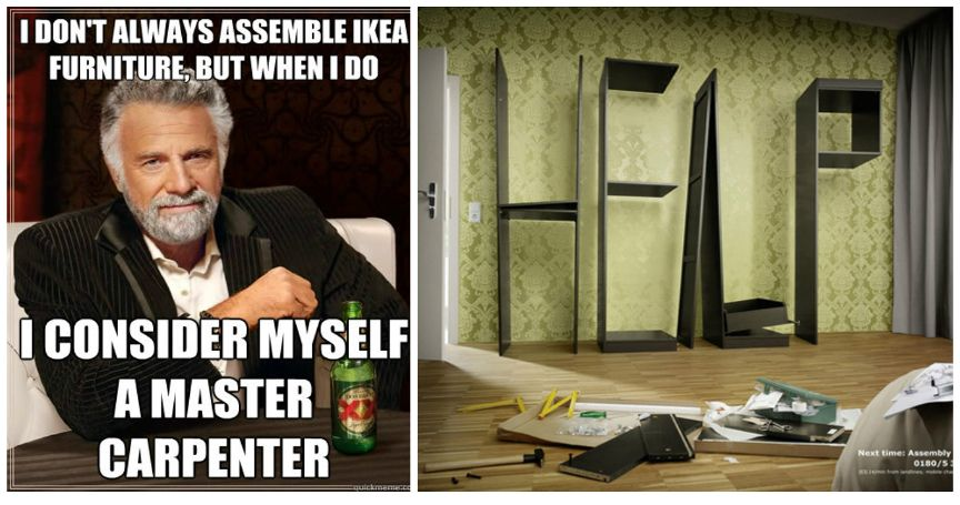 15 Hilarious DIY Furniture Assembly Fails