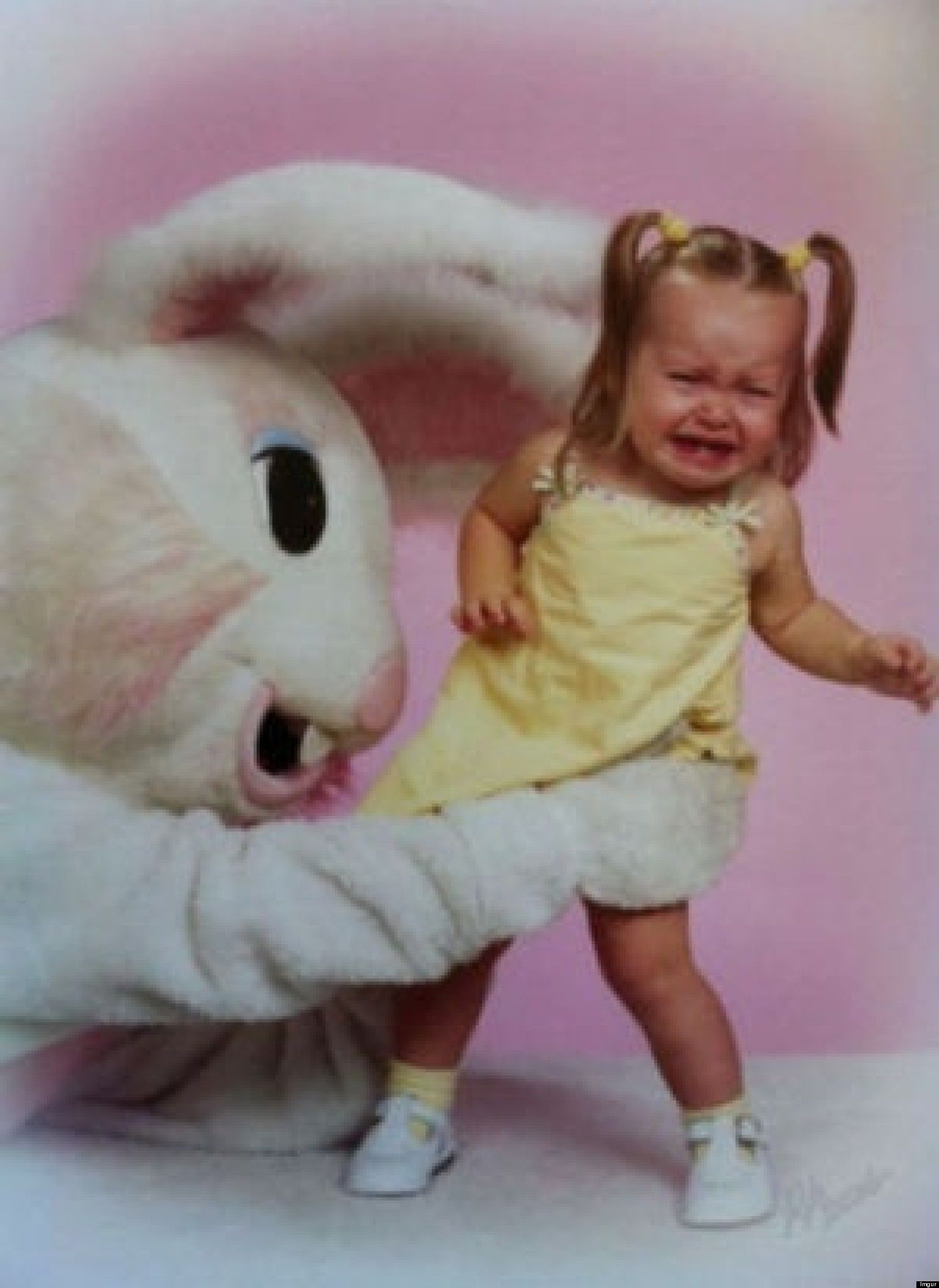 15 photos that prove the easter bunny is scary af