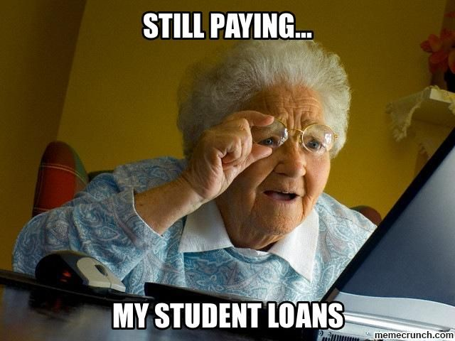 Image result for student debt meme