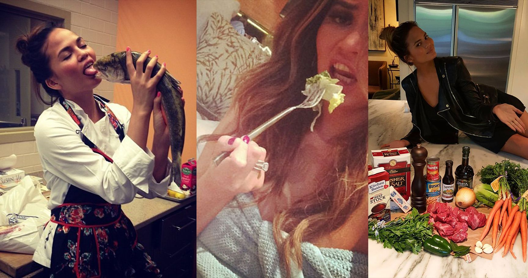 15 Times Chrissy Teigen Got Photobombed By Food
