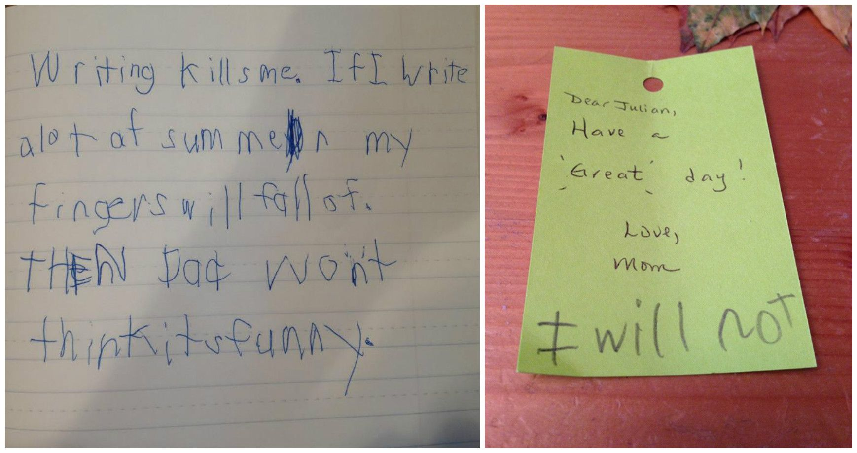 15 Hilarious Notes From Kids That Make Us Laugh Until We Cry