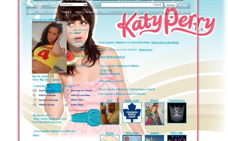 Girl layouts bondage myspace