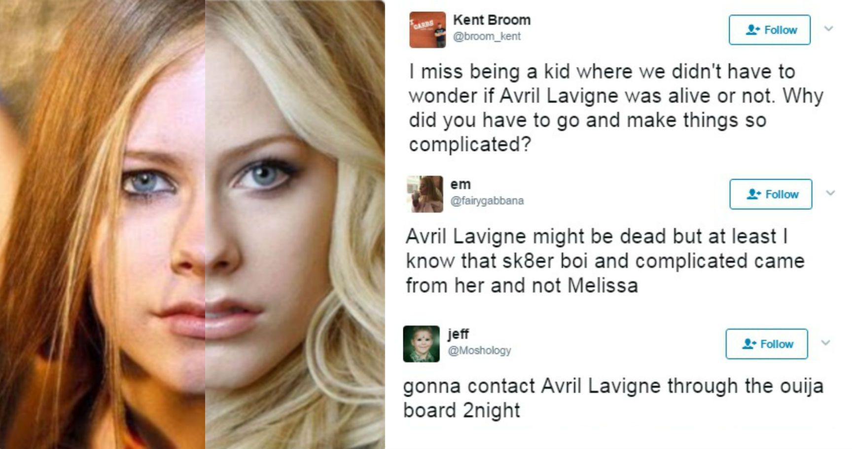 """15 Epic Tweets About The """"Avril Lavigne Is Dead ... Avril Lavigne Conspiracy"""