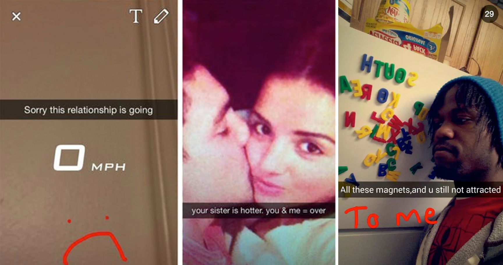 15 Breakup Snapchats That Are Ridiculously Brutal | TheThings