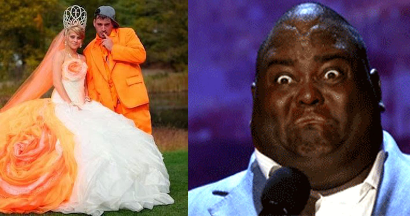 """15 Horrifying Wedding Outfits Couples Had No Business Saying """"I Do"""" In"""
