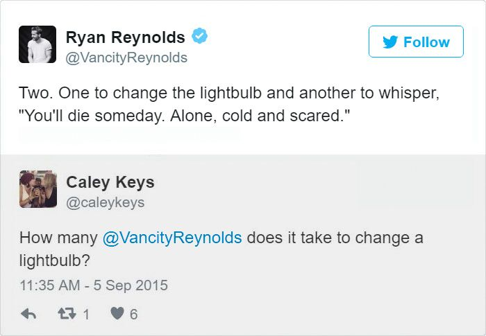 2- When Ryan Reynolds Freaks You Out