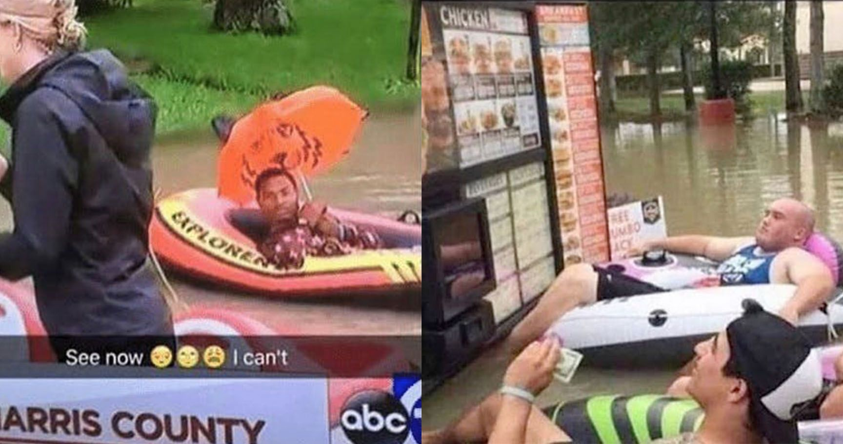 15 Epic People Who Are Making The Most Of The Houston Flood