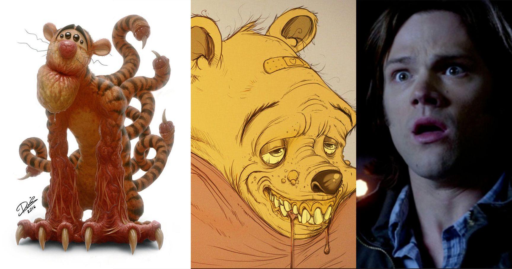 15 Disney Fan Artworks That Turned Fairytales Into Nightmare Fuel