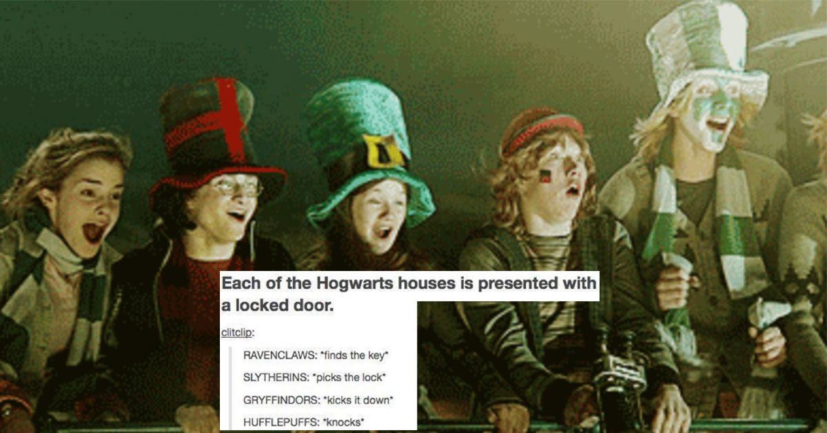The True Difference Between The Hogwarts Houses 15 Tumblr Posts
