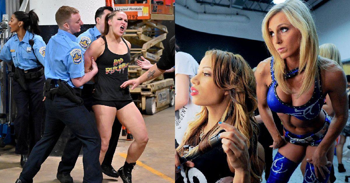 20 Rare Backstage Photos Of WWE Divas