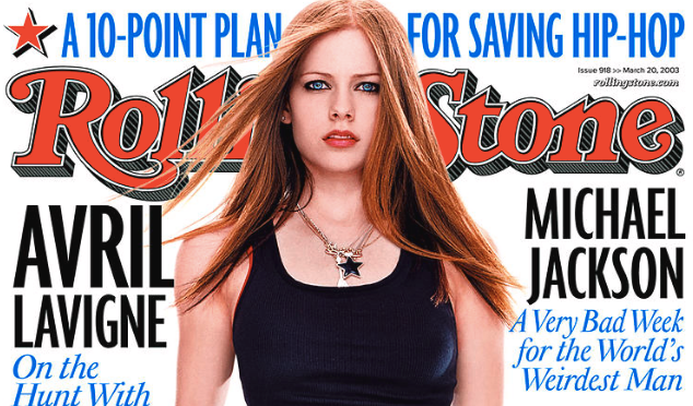 Avril Lavigne as Rolling Stone 2003's cover starVia Rolling Stone