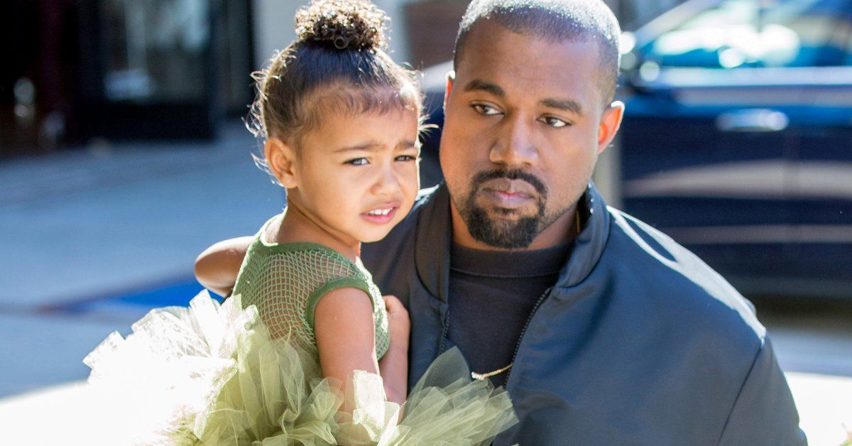 Kanye West Walks Around London Using His Daughter To Promote His Presidential Campaign