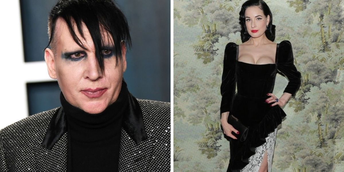 Dita Von Teese Left Twitter Users Confused With Her Take On Ex-Husband Marilyn Manson's Allegations