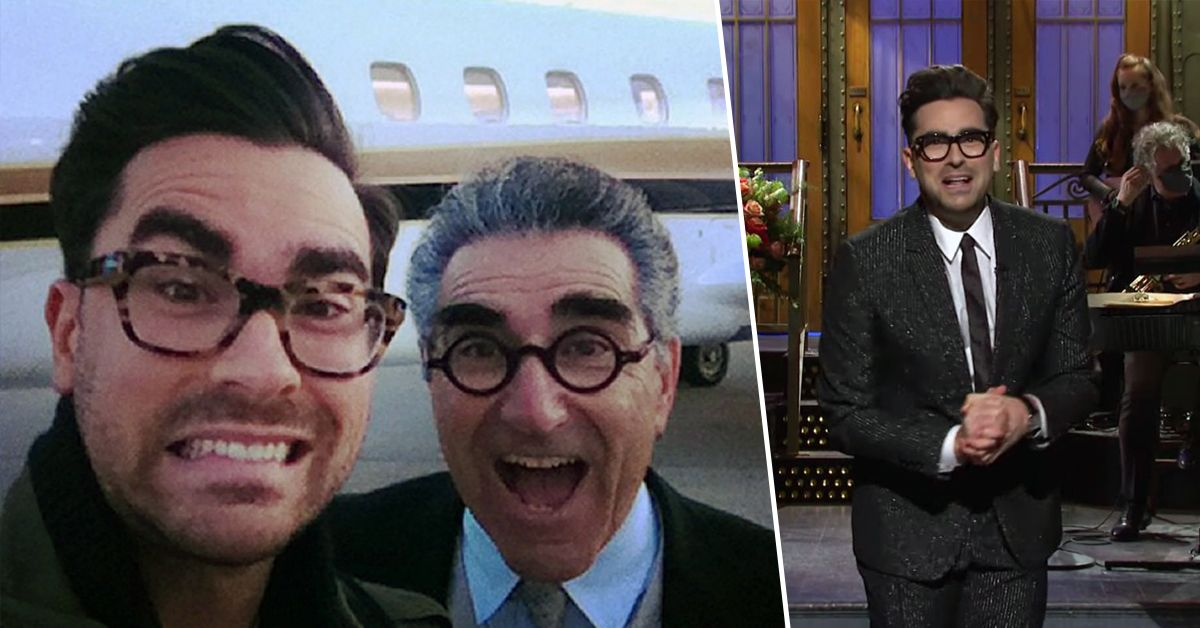 Eugene Levy Supporting Dan On 'SNL' Is Too Wholesome To Handle