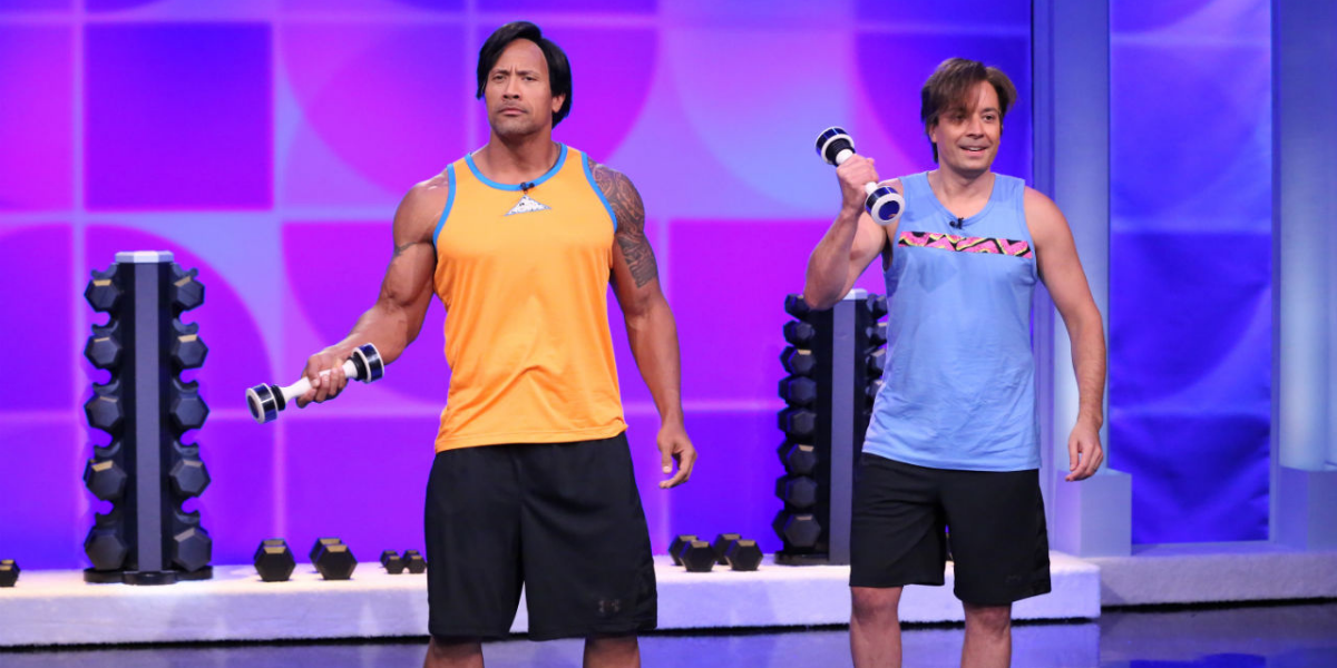 Jimmy Fallon Compares His 15-Year-Old Self To Dwayne Johnson