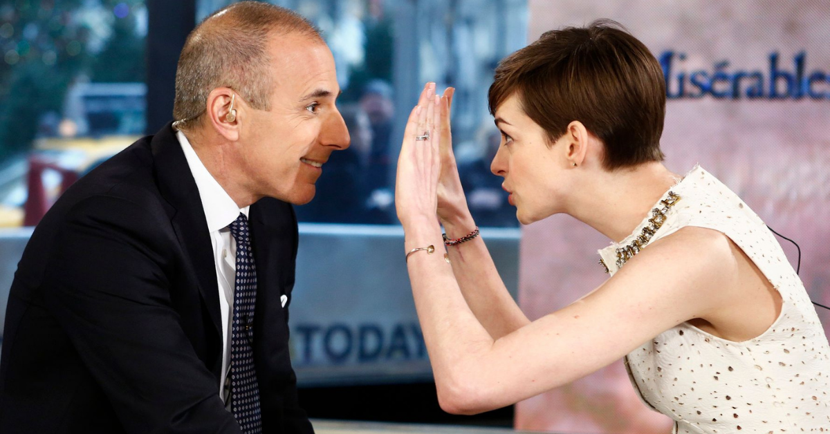 Here's Why Fans Are Still Bothered By Matt Lauer's Interview With Anne Hathaway