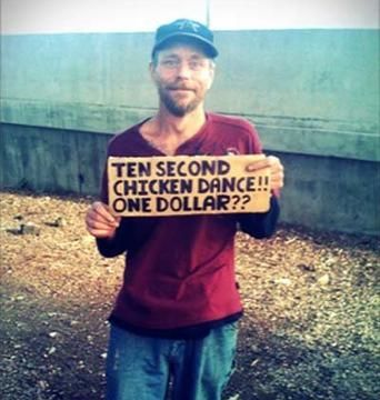 The Funniest Homeless People SIGNS